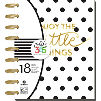 Me and My Big Ideas Create 365 18-Month Planner 7.75-inch x 9.75-inch - Sugar and Type