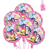 "Party Propz 6Pcs My Little Pony Foil Balloons 18"" for Little Pony Birthday Decorations"