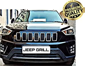 Dossvick Jeep Style Front Grill for Creta Models 2014-2017 (Black)