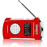 Duronic Ecohand AM/FM Radio   LED Zaklamp   Opladen met USB Handslinger   Koptelefoon Jack Plug   Ingebouwde Zaklantaarn   Dr