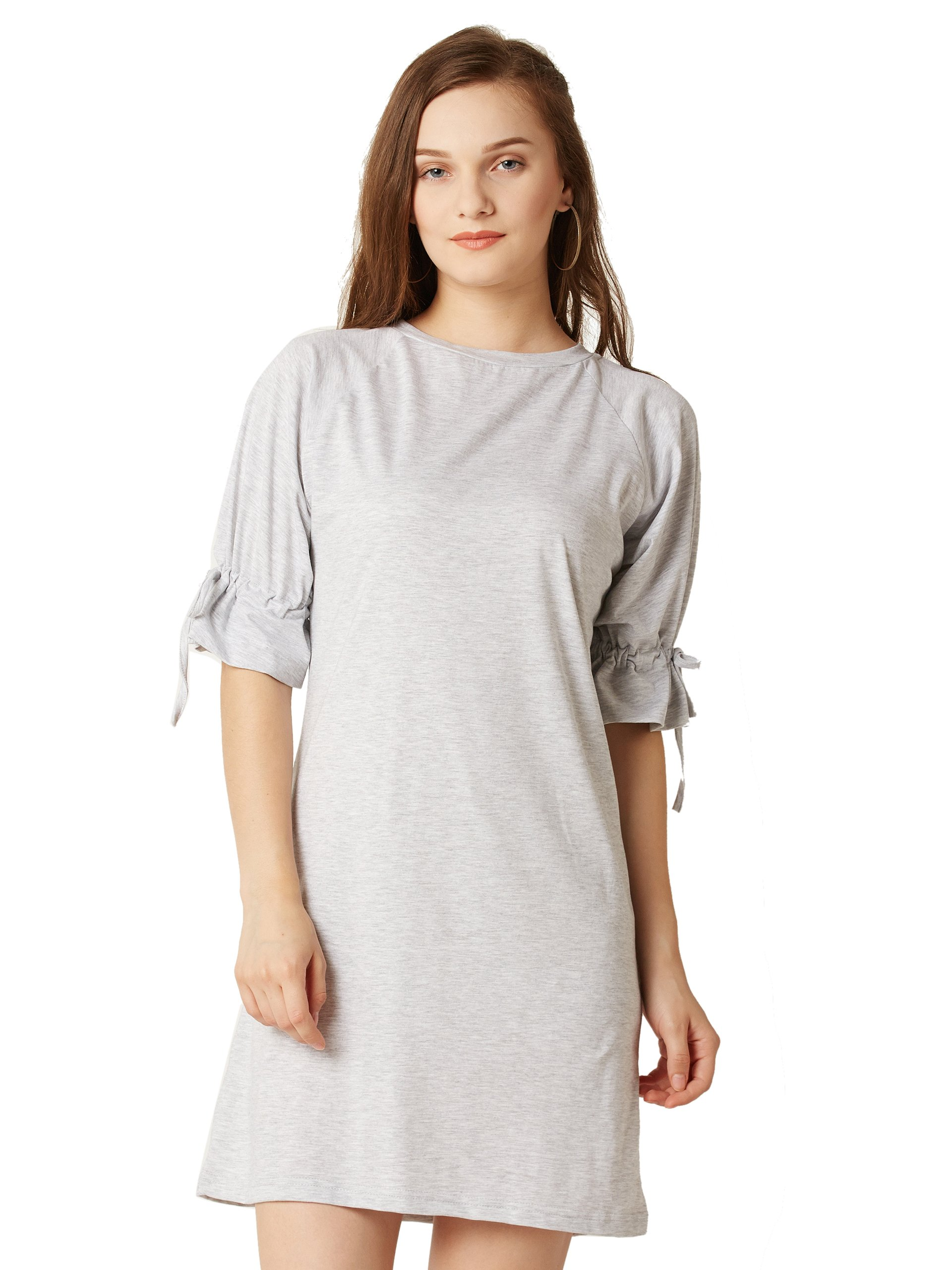 Miss Chase Women's Light Grey Mini Shift Dress