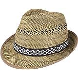Lipodo Cappello di Paglia Raccoglitore (Protezione Solare) Donne/Uomo - Made in Italy - Cappello da Sole - Cappello di Paglia