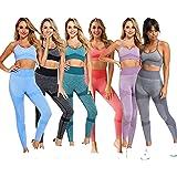 C K CrisKat Set sportivo da donna con reggiseno e pantaloni da yoga, completo di leggings e reggiseno sportivo, completo di r