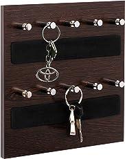 Odestar Key Holder - Wall Mounted Hanging Board (OD-KH-WM-W10, Brown)