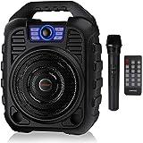 EARISE T26 - Sistema PA portatile con altoparlante Bluetooth con microfono wireless, macchina per karaoke ricaricabile con ra