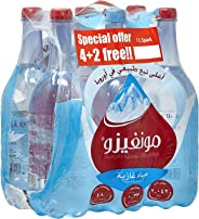 Monviso Sparkling  Natural Mineral Water - 1 Litre (Pack Of 6)