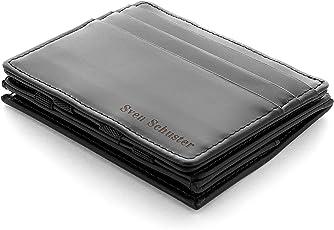 JAIMIE JACOBS Flap Boy - Das Original - Magic Wallet mit Münzfach und RFID-Schutz Magischer Geldbeutel Magisches Portmonaie Brieftasche mit Kleingeldfach Herren Echtes Leder