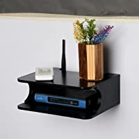 Studio Crafts Shoppee Tv Cabinet Shelves Set-Top Box WiFi Router Rack Wooden Floating Wall Shelf Wall-Mounted Tv Console…