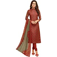 Oomph! Women's Unstitched Cotton blend Salwar Suit Dupatta Material