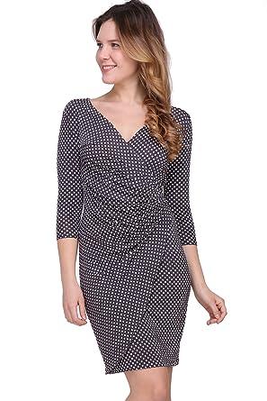 8f0717cf740 Revdelle - Made in France robe plissé à pois manches 3 4 pour Femme Myriam   Amazon.fr  Vêtements et accessoires