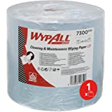 WypAll Essuyeurs 7300 Ateliers de Maintenance et Entretien L20, Maxi Bobine, 2 Épaisseurs, Bleus (1 Rouleau de 500 Formats)