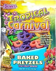Browns Tropical Carnival Baked Pretzels Pet Bird Treats- 56.7 GM