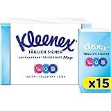 Kleenex Dagelijks veilige zakdoeken, 4-laags, voor dagelijks gebruik, 15 verpakkingen à 9 doeken