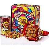 Chupa Chups Gift Box 420gr: Cadeau verpakking Flower Bouquet 19 lollies en metalen blik 16 lollies 420.00 g