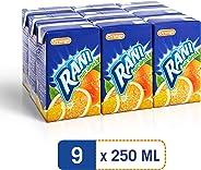 Rani Non Float Orange, Fruit Drink, Fibre Brick, 250ml - Pack of 9
