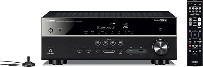 Yamaha RX-V 485 5.1 AV Receiver with MusicCast (Dolby Audio, DTS-HD, Bluetooth, Wi-Fi, AirPlay, 4K Ultra, MusicCast Surround, 115 Watts @ 8 Ohms)