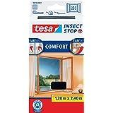 tesa Insect Stop COMFORT Klittenband voor Franse ramen, Hor, verwijderbaar en herbruikbaar, wasbaar