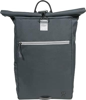 FUCHS & REBELL® Rolltop Rucksack PIET – aus recyceltem PET für Damen & Herren – Nachhaltig und funktional - Laptop Rucksack für den Alltag, Uni, Business, Schule Reisen, Fahrrad – 15-22 L