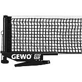 GEWO Unisex– Erwachsene Netz CS Clip Tischtennisnetz, schwarz, ITTF-Standard