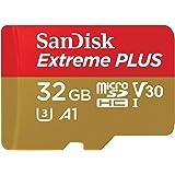 SanDisk Extreme Plus - Tarjeta de Memoria 32 GB microSDHC para Smartphone, tabletas y cámaras MIL + Adaptador SD, Velocidad d