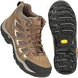 Mountain Warehouse Field Waterproof Vibram Hiking Wide Fit Boots - Waterproof Rain Shoes, Durable Walking Boots, Suede & Mesh