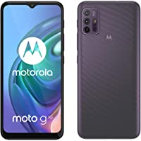 "Motorola moto g10 (6,5""-Display, 48-MP-Kamera, 4/64 GB, 5000-mAh, Dual-SIM, Android 11) Aurora Grey, inkl. Schutzcover…"