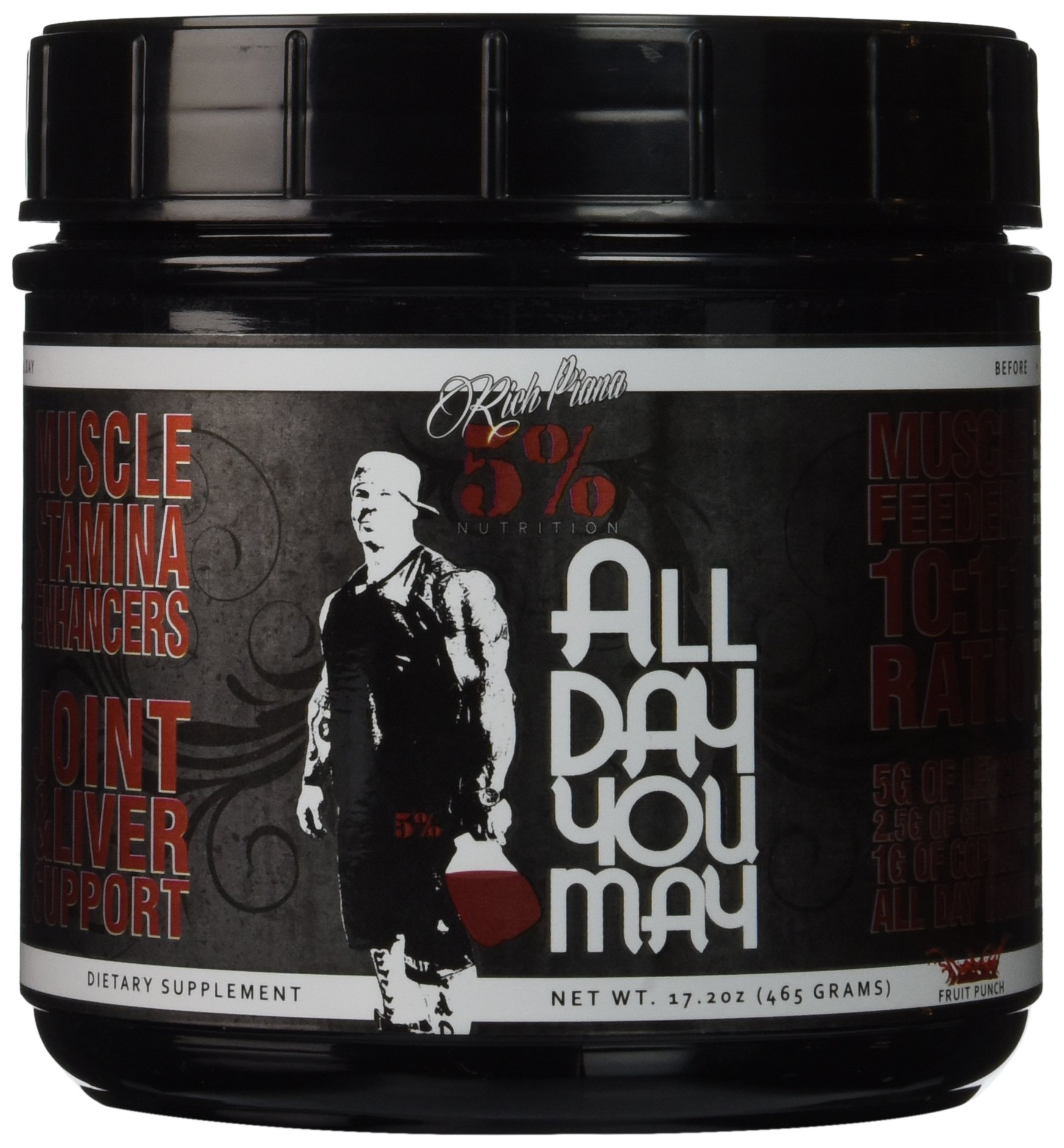 81mutOt2BCL - 5% Nutrition - Rich Piana All Day You May, Fruit Punch, PER1001/462/101
