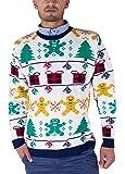 Vitageclothing NOROZE Damen Herren Unisex Christmas Reindeer Gingerbread Man Neuheit Strick Jumers
