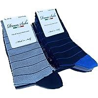 DREAM SOCKS 6 paia calze corte da uomo a metà polpaccio in cotone filo di scozia elasticizzate,calzini molto leggeri…