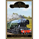 Personalised Steam Train Birthday Card - 2 Designs (The Flying Scotsman)