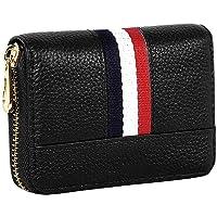 Brand Conquer 12 Slot PU Leather Credit/Debit Card Holder Money Wallet Zipper Purse for Men & Women - (Black,10.75 x 8 x…