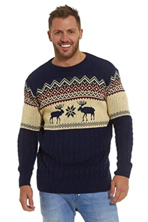 Christmas Xmas Jumper Sweater Mens Ladies Unisex Fairisle Reindeer ...
