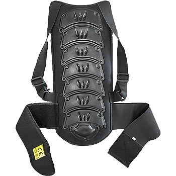 Australian Bikers Gear - Protezione per schiena dorsale in motocicletta, nera, XXL