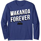 Marvel Black Panther Wakanda Forever Vintage Manche Longue