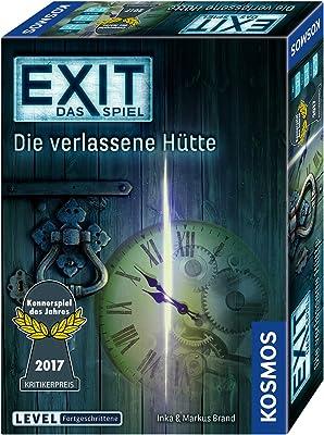 KOSMOS Spiele 692681 - EXIT - Das Spiel - Die verlassene Hütte, Die verlassene Hütte, Kennerspiel des Jahres 2017