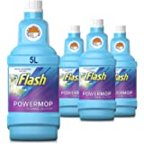 Flash Powermop Refill Liquid, Floor Cleaner, Fresh, 5 Litres (1.25 L x 4)