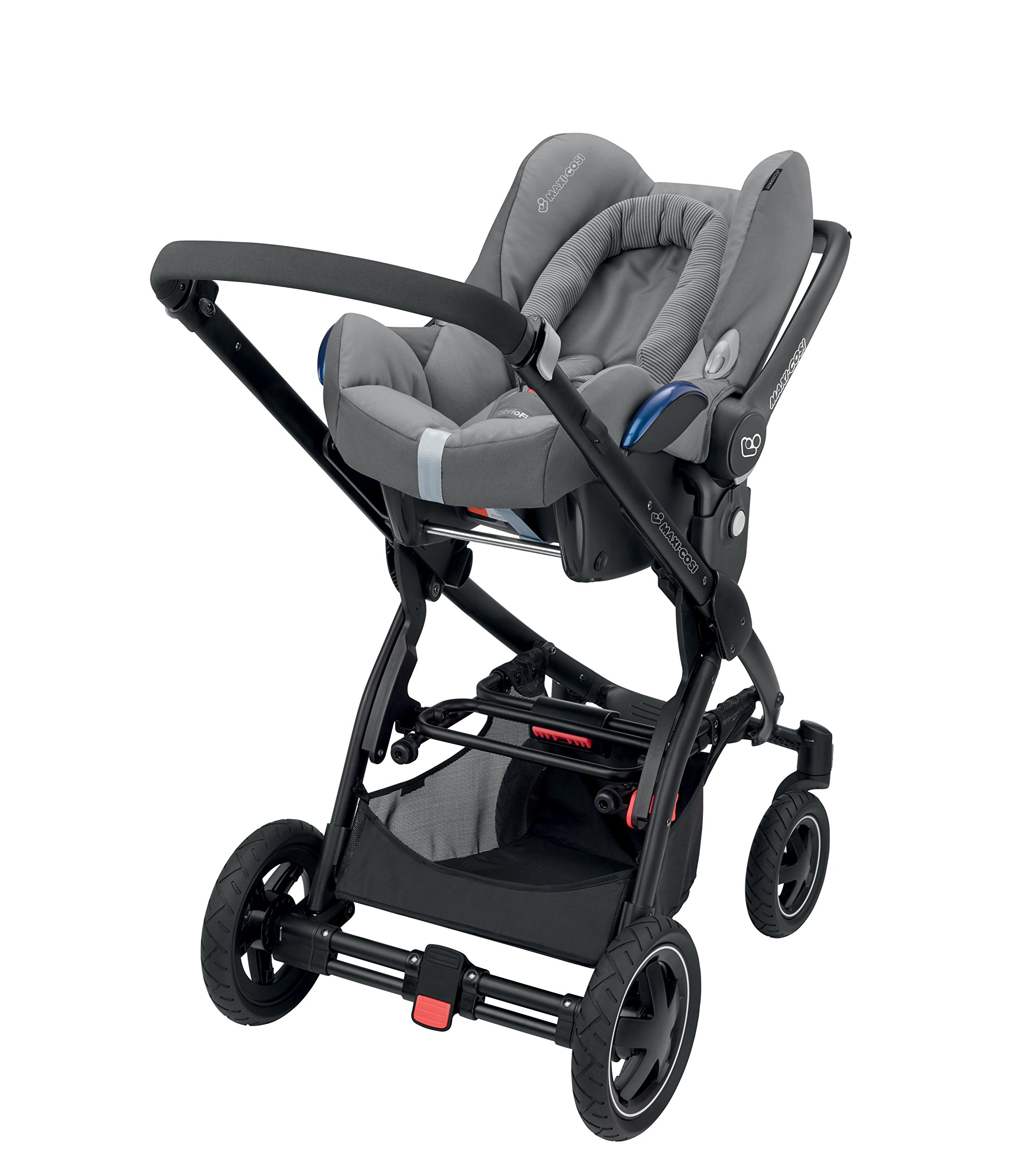 Maxi-Cosi CabrioFix Baby Car Seat Group 0+, ISOFIX, 0-12 Months, 0-13 kg, Concrete Grey Maxi-Cosi Suitable from birth to 13 kg (approximately 12 months) Compatible with Maxi-Cosi and Quinny pushchairs to form a travel system Easy installation in combination with Maxi-Cosi FamilyFix Base, EasyFix Base or a three-point seat belt 5