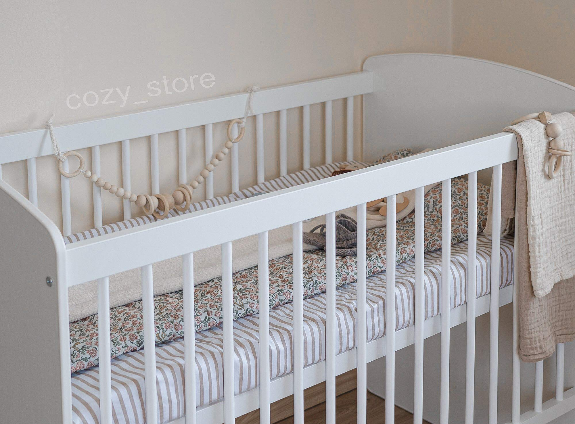 SOCOZY®   White Solid Pine Wood Baby Cot Bed I Free Healthy Coconut&BUCKWHEAT Mattress I Bed for Baby   3 Mattress Positions   ECO Paint   Minimalistic   120x60 SOCOZY ✔ HEALTH your growing child is the most important for us - The bed is made of ecological board and pine wood and the cot is covered with non-toxic lacquers ✔ ENJOY the view of the child playing in the cot and have a moment to yourself - as mom you deserve it more than anyone else ✔ GIVE YOUR CHILD a peaceful and helathy sleep - Coconut mat provides a flat, hard but also elastic support for the body while sleeping, perfect air circulation and humidity control. The mat is ecological. 2