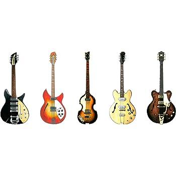 Carte de voeux de guitares les Beatles, DL taille
