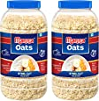Manna Oats 2kg (1kg x 2 Jars) - Gluten Free Steel Cut Rolled Oats. High In Fibre & Protein. Helps maintain cholesterol. Good for Diabetics. 100% Natural.