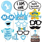 Wobbox First Birthday Party Props for Birthday Events, Blue