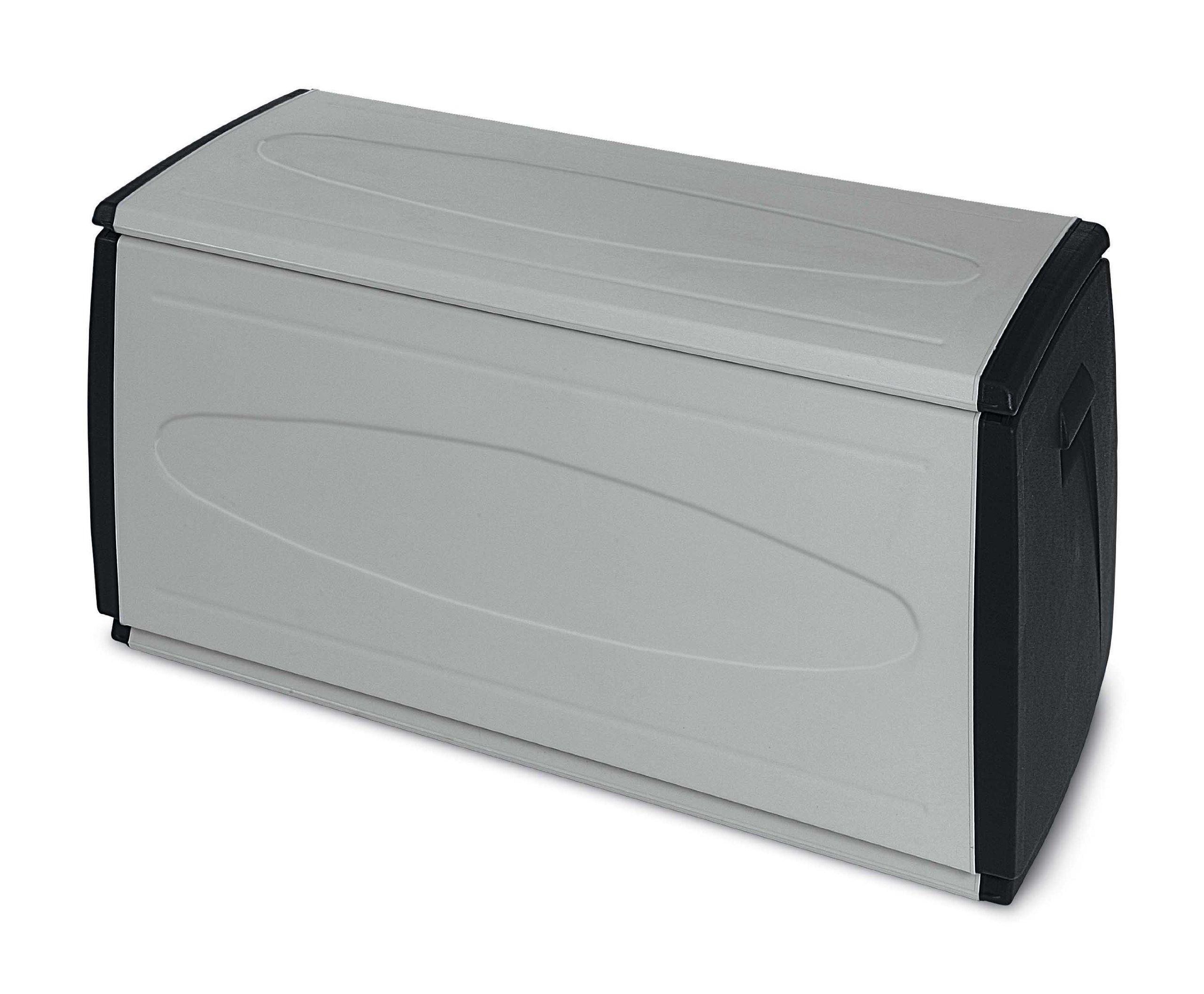 Terry-1101892-Prince-Box-120-QBlack-Baule-in-Plastica-GrigioNero-120-x-54-x-57-cm