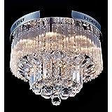 Saint Mossi Plafonnier en cristal Éclairage LED Luminaire Suspension Luminaire pour Salle à Manger Salle De Bains Chambre Sal
