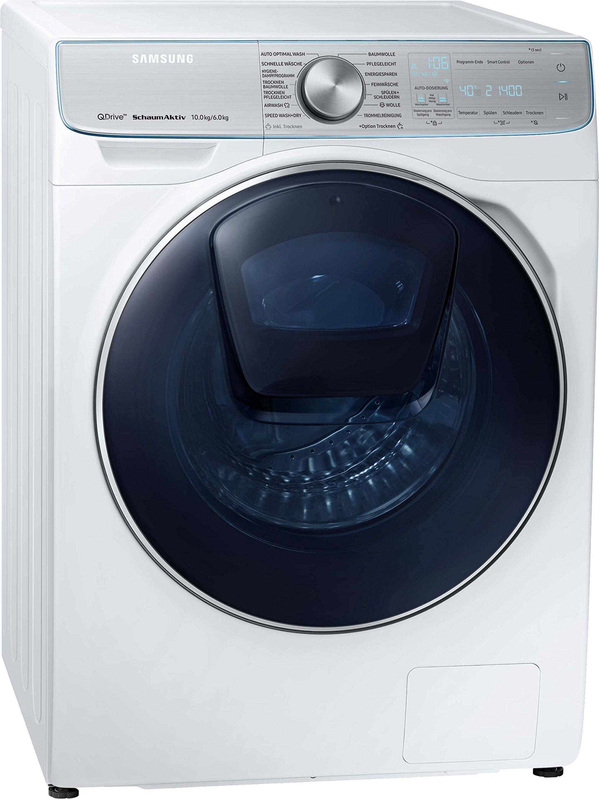 Samsung wd8800 wd10 N84i Noa/CE Quick Drive lave-linge séchant/A/28000  kWh/an/1400 tr/min 10 kg/12000 l/AN/5 kg laver et sécher en seulement 3