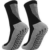 Cooraby Anti Slip Football Socks Non Slip Athletic Socks Basketball Socks Breathable for Men & Women