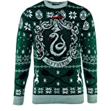 Official Harry Potter Slytherin House Christmas Knitted Jumper
