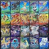 AUMIDY Pokémon kaarten, GX Vmax, 100 stuks verschillende Pokémonkaarten van zwaard en bordedities, 60 V + 40 Vmax kaarten voo