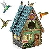 Nichoir Oiseaux Extérieur Maison d'oiseau Naturel Nid Suspendu pour Les mésanges Bleues, Colibris, Moineau et Autres Oiseaux