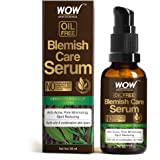 WOW Skin Science Blemish Care Serum - OIL FREE - Anti Acne, Spot Reducing - No Parabens, Silicones, Synthetic Fragrance & Col