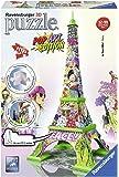 Ravensburger 3D-Puzzle 12598 - Pop Art Edition, Eiffelturm, bunt